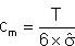 Formel für Cm